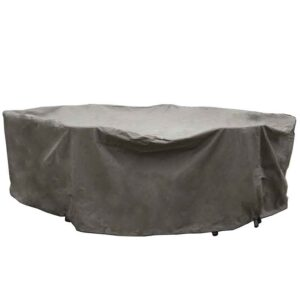 Bramblecrest Cover 220 x 145cm Elliptical Table Set Cover in Khaki
