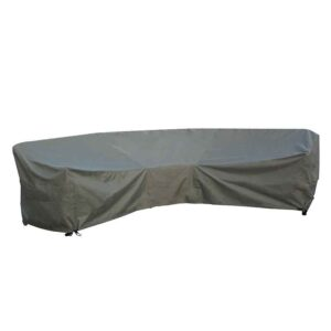 Bramblecrest Curved Corner Sofa Cover in Khaki