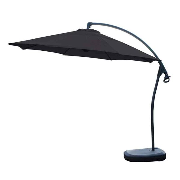 Bramblecrest Gloucester 3m Round Side Post Parasol & Protective Cover in Grey