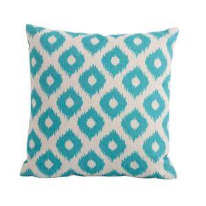 Bramblecrest Green Lattice Square Scatter Cushion