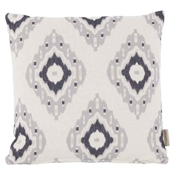Bramblecrest Grey Ikat Square Scatter Cushion