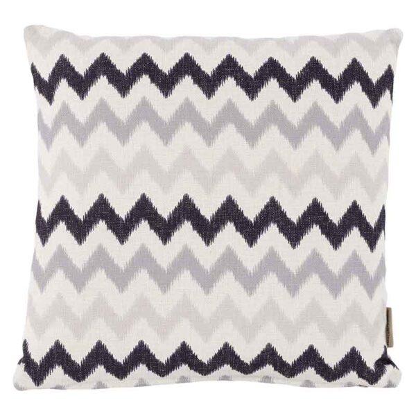 Bramblecrest Grey Zig Zag Square Scatter Cushion