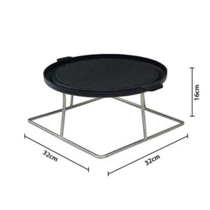 Bramblecrest Griddle for Square Casual Dining Table with Firepit
