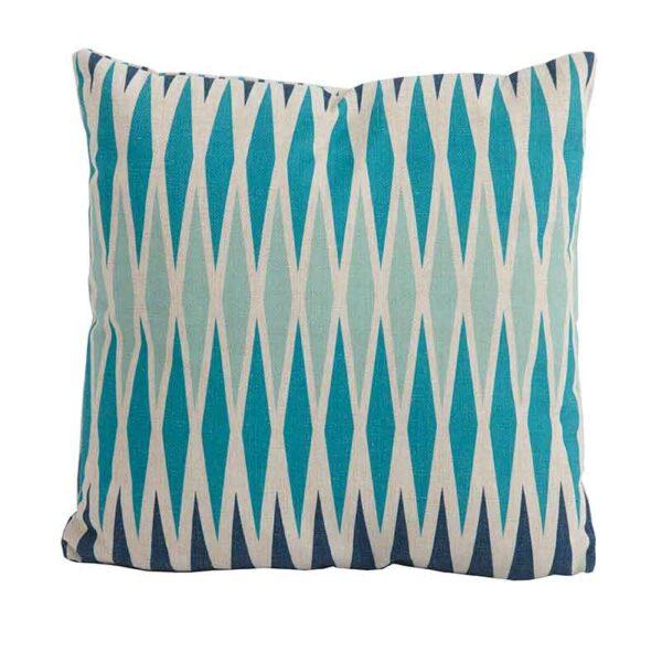 Bramblecrest Harlequin Blue Square Scatter Cushion