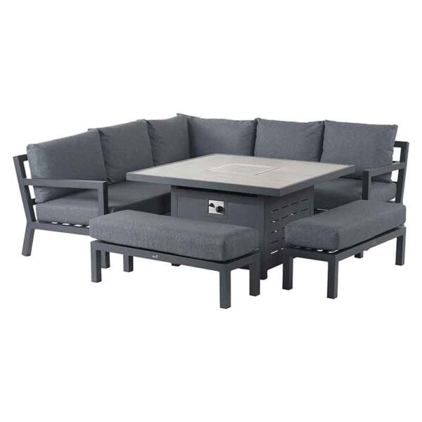 Bramblecrest La Rochelle 8 Seater Modular Sofa Set with Firepit Table cover on