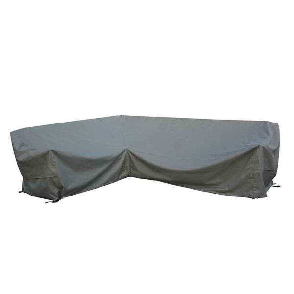 Bramblecrest Large Rectangular Long Right L Shape Sofa Cover in Khaki