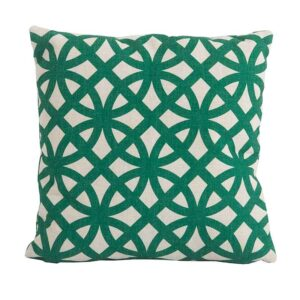 Bramblecrest Link Green Square Scatter Cushion