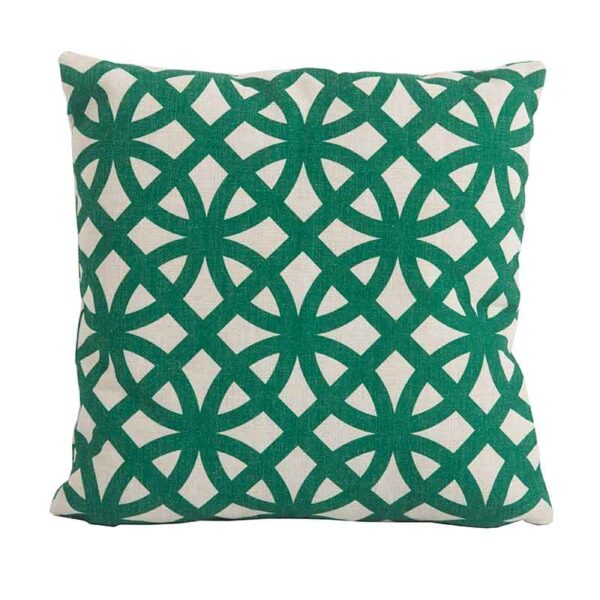Bramblecrest Link Green Square Scatter Cushion