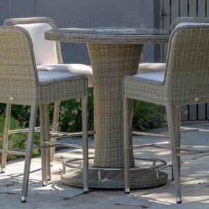 Bramblecrest Monte Carlo 96cm Round Bar Set with 4 stools