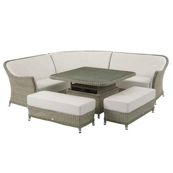Bramblecrest Monte Carlo Square Adjustable Casual Dining Set