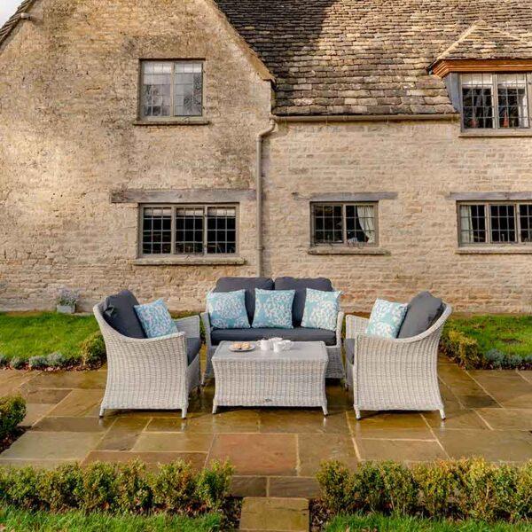 Bramblecrest Monterey 4 Seat Garden Lounge Set in Dove Grey