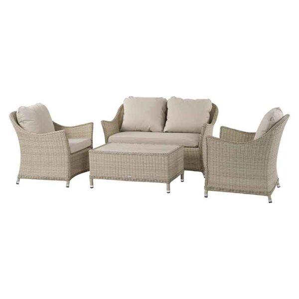 Bramblecrest Monterey 4 Seat Garden Lounge Set in Sandstone