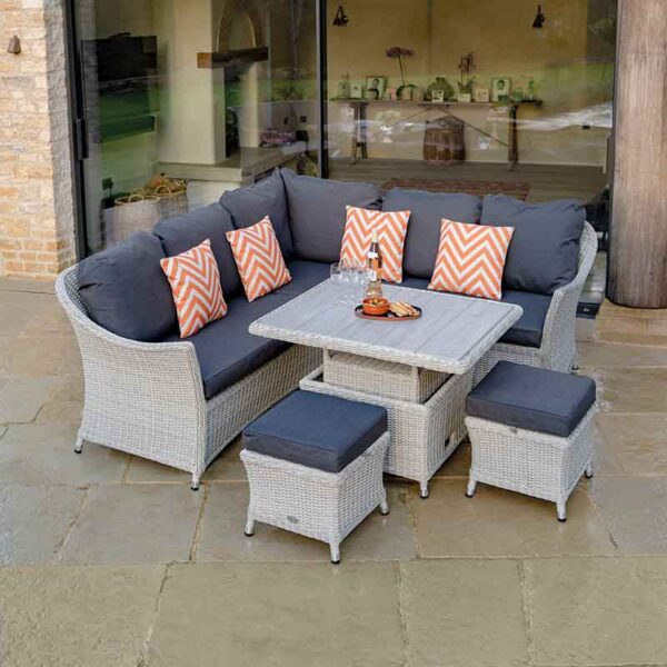 Bramblecrest Monterey Mini Casual Dining Suite with Ceramic Table