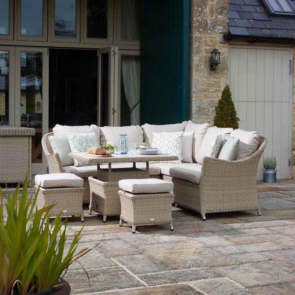 Bramblecrest Monterey Mini Casual Dining Suite with Ceramic Table in Sandstone