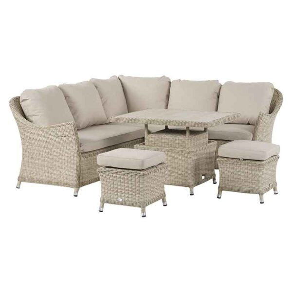Bramblecrest Monterey Mini Casual Dining Suite with Ceramic Table set to dining height