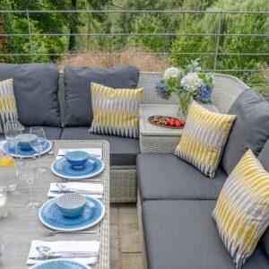 Bramblecrest Monterey Modular Corner Storage Sofa Set in Dove Grey