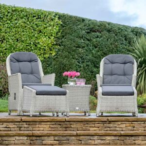 Bramblecrest Monterey Recliner Set with Footstools & Table in Dove Grey