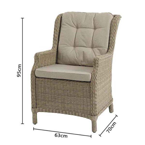 Bramblecrest Oakridge Armchair with Fawn season-proof cushions