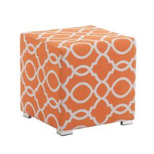 Bramblecrest Outdoor Cubic Stool - Tuscan (orange)