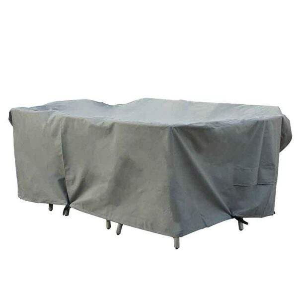 Bramblecrest Rectangular Firepit Table Set Cover in Khaki