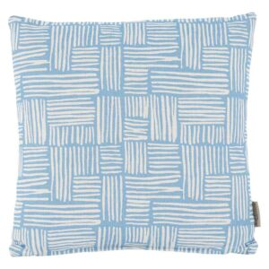 Bramblecrest Sky Blue Wicker Square Scatter Cushion