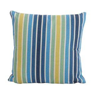 Bramblecrest Stripe Blue Square Scatter Cushion