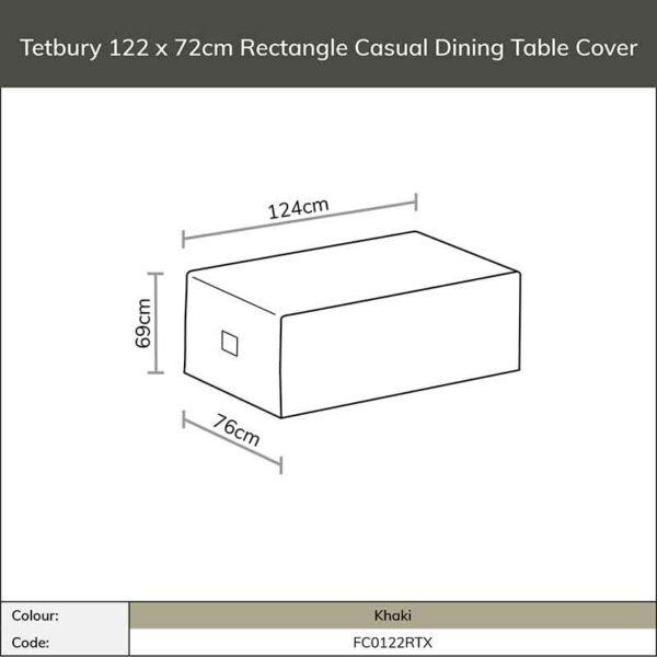 Bramblecrest Tetbury 122 x 72cm Casual Dining Table Cover in Khaki