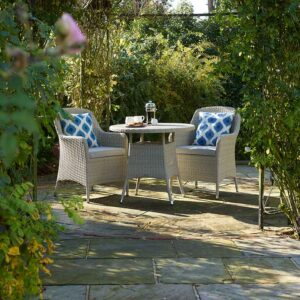 Bramblecrest Tetbury Bistro Set in Nutmeg (scatters not included)