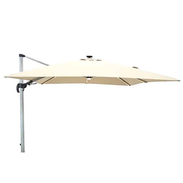 Bramblecrest Truro Sand 3m x 3m Square Side Post Parasol without Base