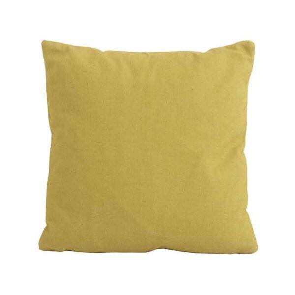 Bramblecrest Yellow Square Scatter Cushion