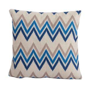 Bramblecrest Zig Zag Blue Square Scatter Cushion