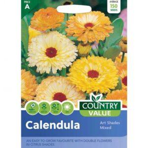 Country Value Calendula Art Shades Mixed Seeds
