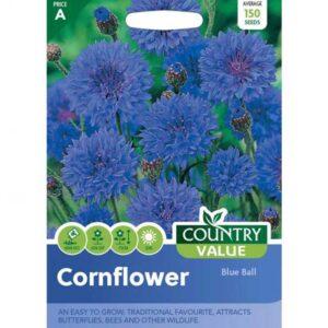Country Value Cornflower Blue Ball Seeds
