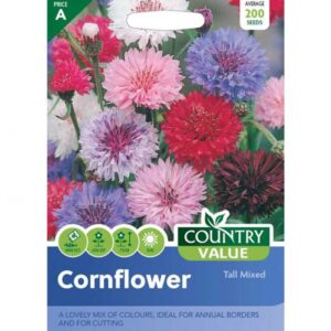 Country Value Cornflower Tall Mixed Seeds