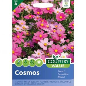 Country Value Cosmos Dwarf Sensation Mixed Seeds