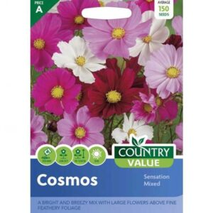 Country Value Cosmos Sensation Mixed Seeds