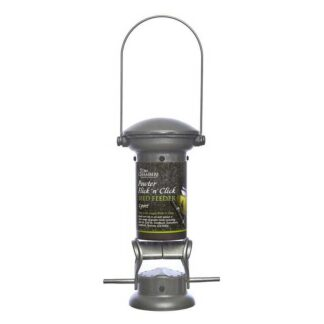 Tom Chambers Pewter Flick 'N' Click 2 Port Seed Feeder