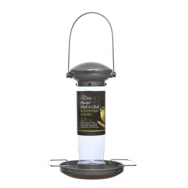 Tom Chambers Pewter Flick 'N' Click Mealworm Feeder
