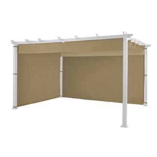 Hartman Caramel Rectangular 4m x 3m Roma Pergola Curtain Pack (Side & Rear)