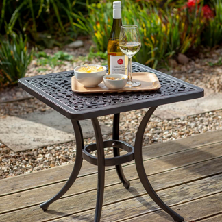 Capri Side Table Bronze And Amber