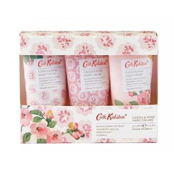 Cath Kidston Cassis & Rose Hand Cream Trio (3 x 30ml)