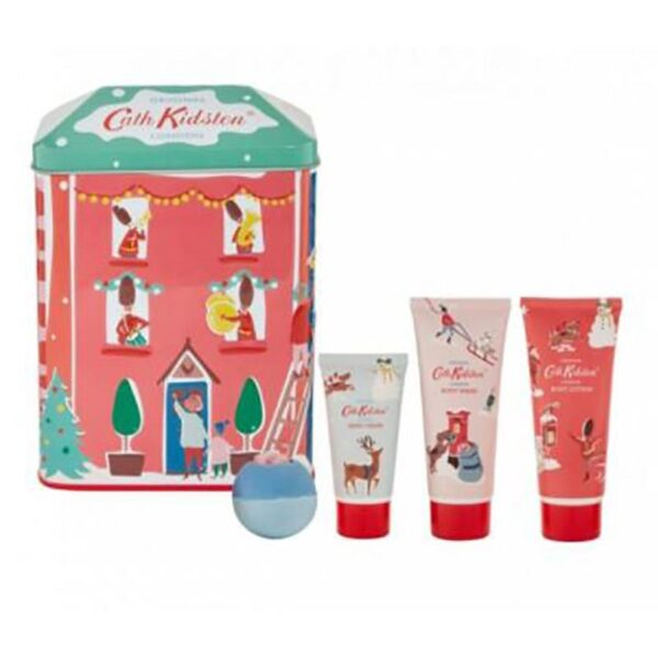 Cath Kidston Christmas Village House Shaped Tin 1