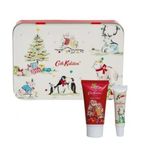 Cath Kidston Festive Party Animals Hand & Lip Tin