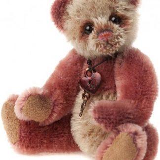 Charlie Bears Mini Mohair Keyring - Slipper