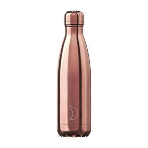 Chilly's Reusable Bottle - Chrome Rose Gold (500ml)