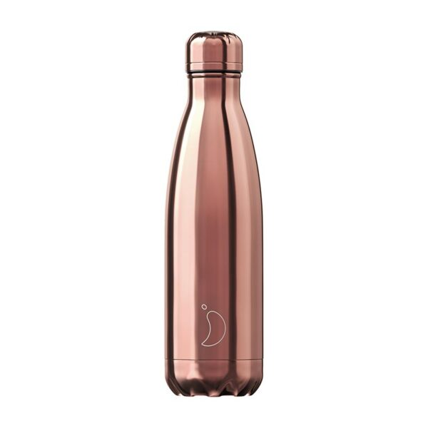 Chilly's Reusable Bottle - Chrome Rose Gold (500ml)