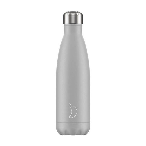 Chilly's Reusable Bottle Monochrome Light Grey 500ml