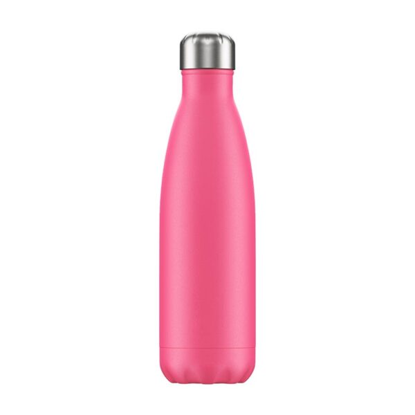 Chilly's Reusable Bottle - Neon Pink (500ml) back