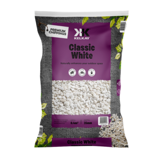 Kelkay Chippings - Classic White (Large Pack) - White Dolomite Spar