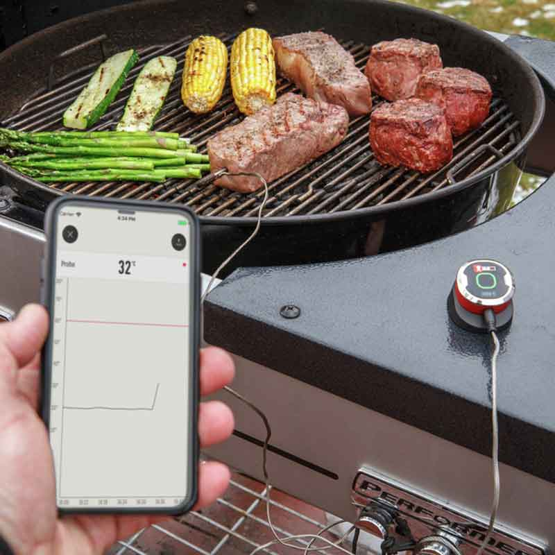 Connect your Weber BBQ to the iGrill app to cook food just right